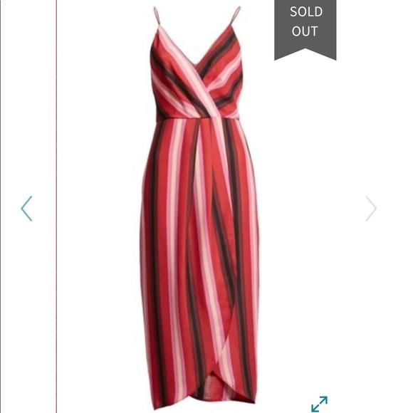 Wayf Dresses & Skirts - New WAYF Stevie Stripe Wrap Dress Size XS